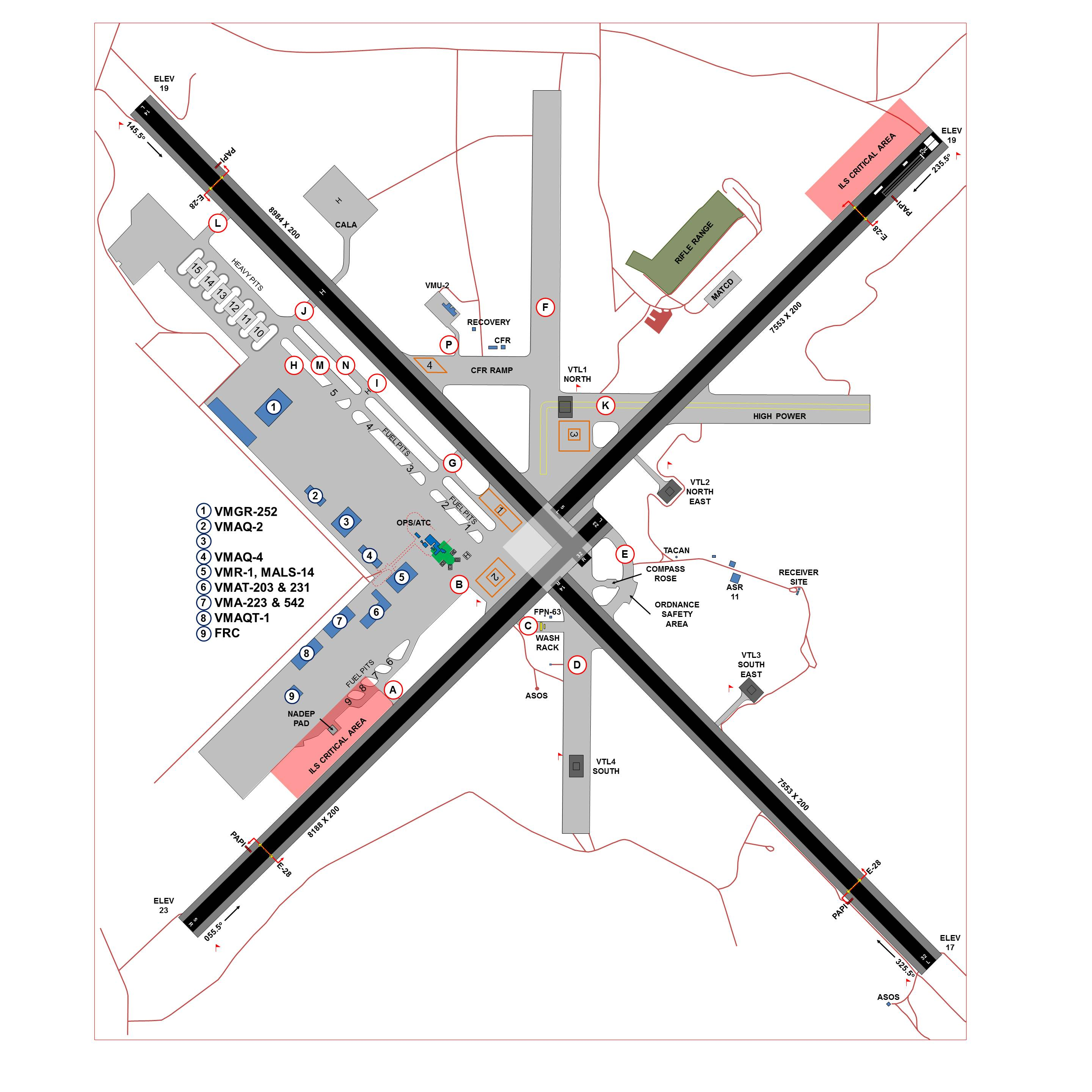 Cherry Point Airfield Layout